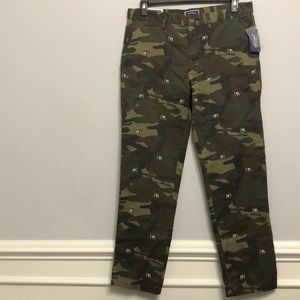 Club Room Classic CAMO Dog Chino Pants 34/32L 🐶